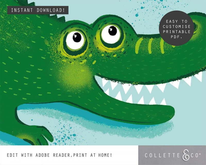Animal Affirmations Printable Croc Cool Editable Collette and Co 3