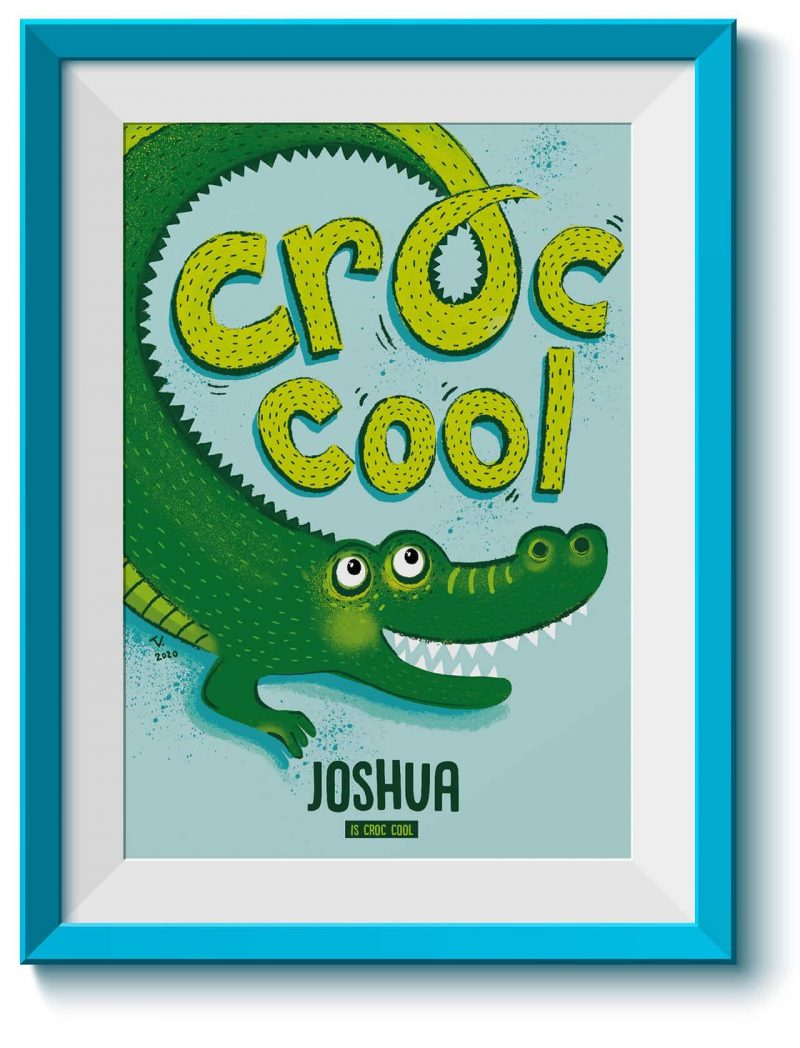 Animal Affirmations Printable Croc Cool Editable Collette and Co 7