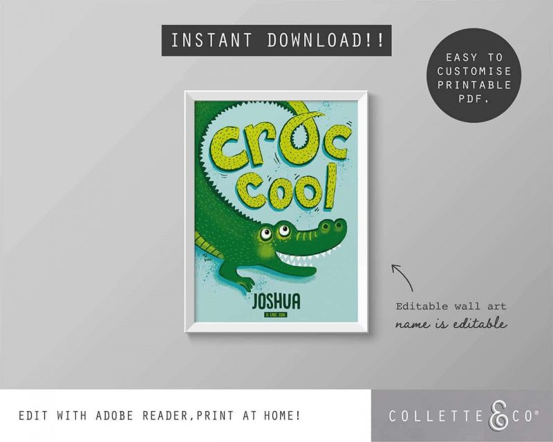 CCAA001 ANIMAL AFFIRMATIONS CROC COOL1