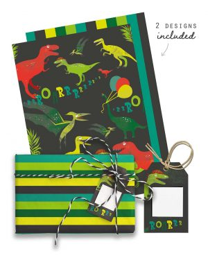 Dinosaur Party Favor Giftwrap Bundle Collette and Co9