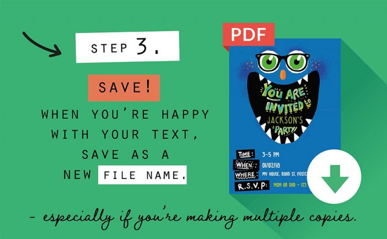 Printables Step 3 infographic Collette and Co