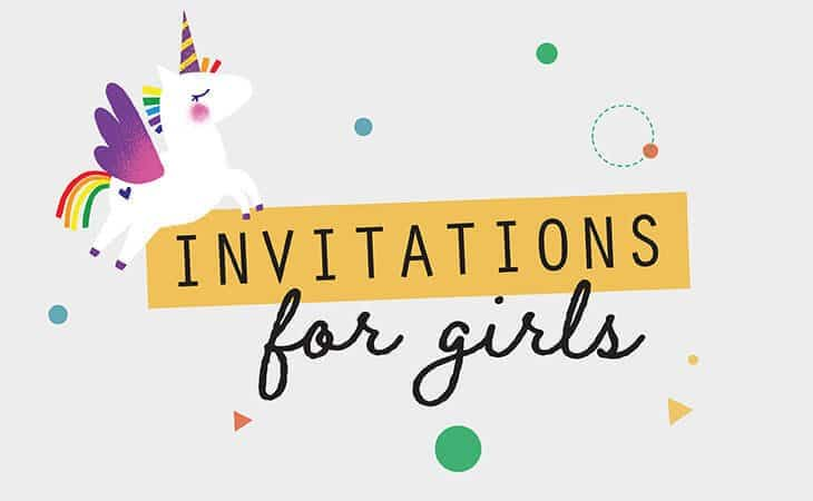 Girl birthday party invitation template Collette Co