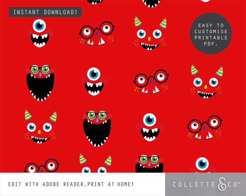 Monster Party Favor Giftwrap Bundle Collette and Co 1