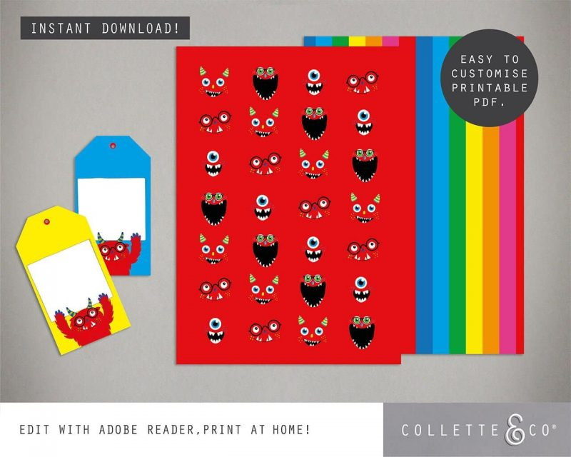 Monster Party Favor Giftwrap Bundle Collette and Co 5