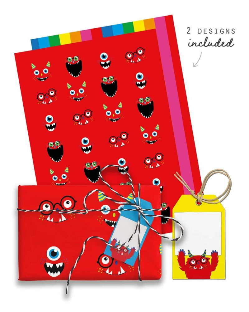 Monster Party Favor Giftwrap Bundle Collette and Co 6