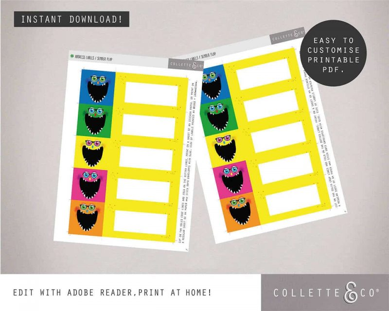 Monster Party Stationery pack Collette and Co1