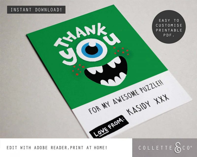 Monster Party Stationery pack Collette and Co4