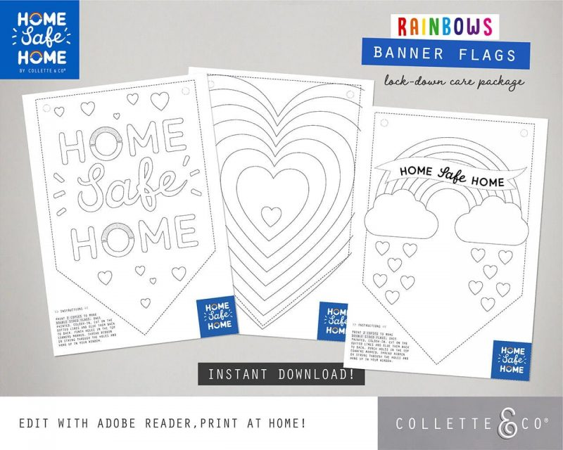 NHS Rainbow Home Safe Home Care pack for kids Collette and Co 1