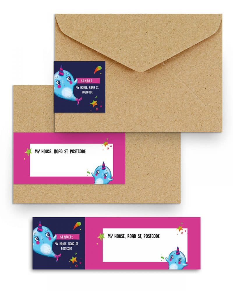 Narwhal Party Decorations Printable Editable Collette and Co 16