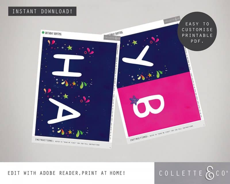 Narwhal Party Decorations Printable Editable Collette and Co 23