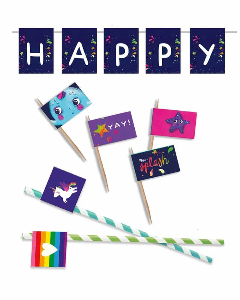 Narwhal Party Decorations Printable Editable Collette and Co 37