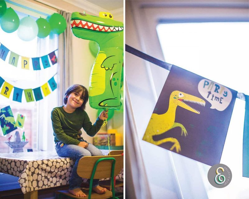 Printable Dinosaur Party Birthday Bunting Editable Collette and Co 1
