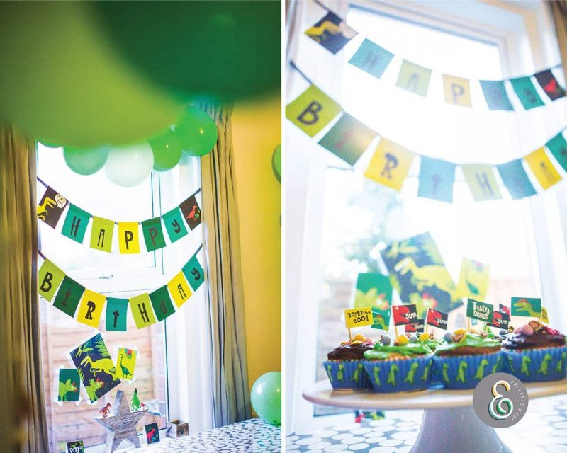 Printable Dinosaur Party Birthday Bunting Editable Collette and Co 2