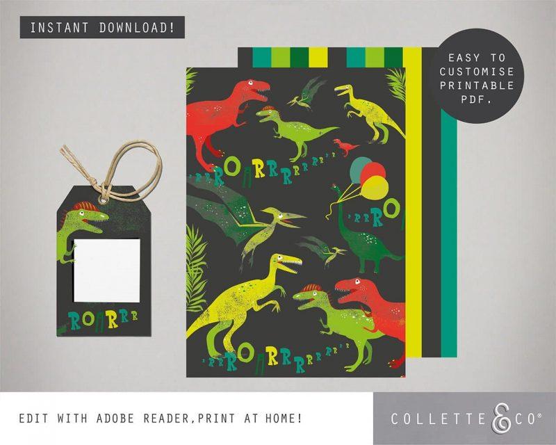 Printable Dinosaur Party Decorations Collette Co 17