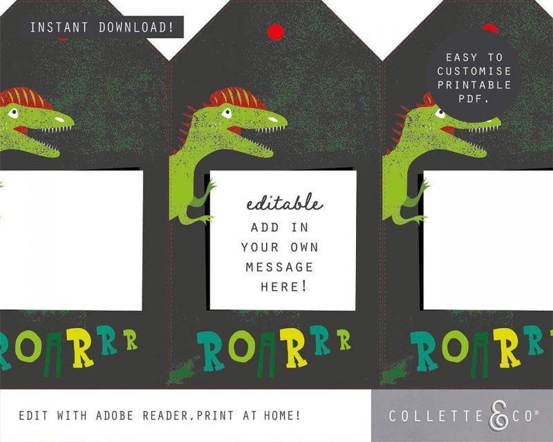 Printable Dinosaur Party Decorations Collette Co 19