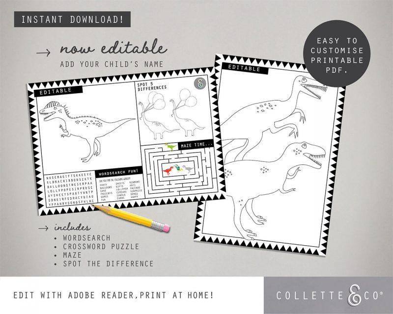 Printable Dinosaur Party Decorations Collette Co 20