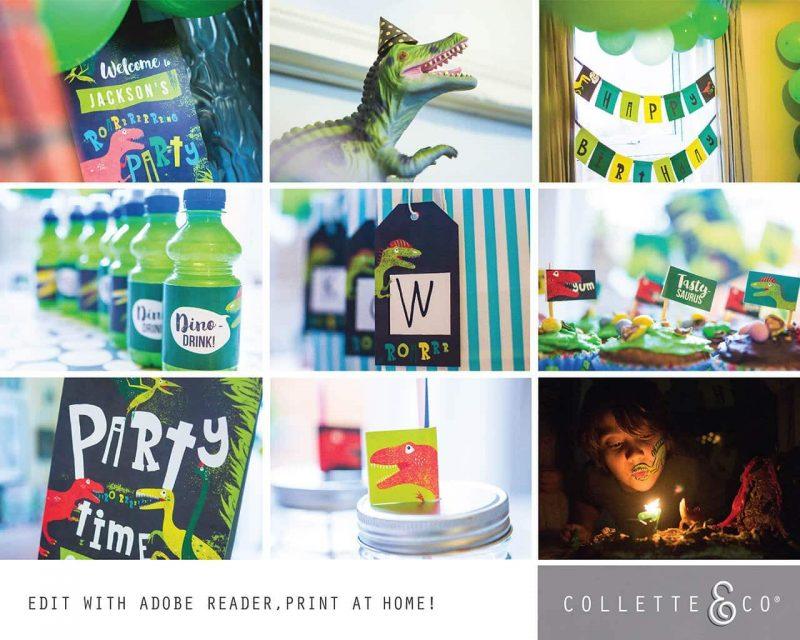 Printable Dinosaur Party Decorations Collette Co 22