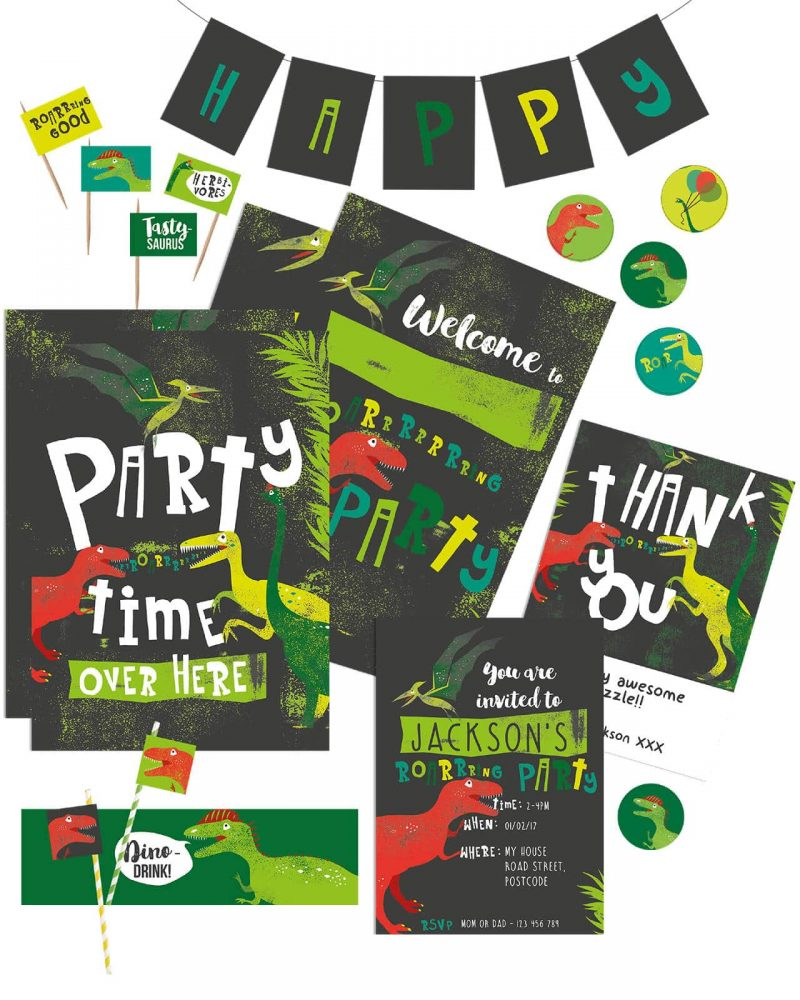 Printable Dinosaur Party Decorations Collette and Co