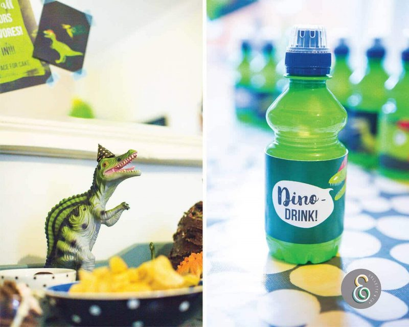 Printable Dinosaur Party Drinks Label Editable Collette and Co 2