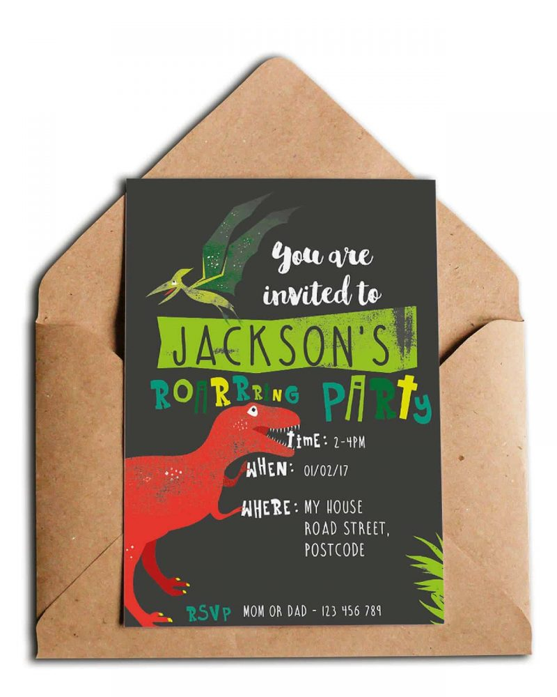 Printable Dinosaur Party Invitation Collette and Co 4