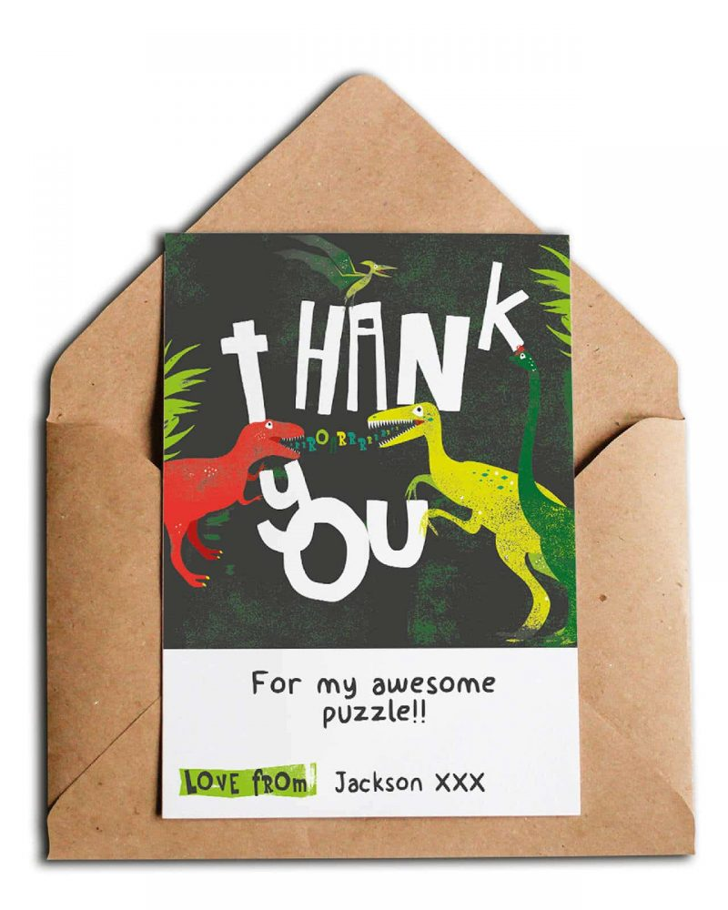 Printable Dinosaur Party Thank You Card Collette and Co 4