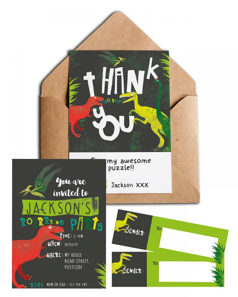 Printable Dinosaur stationery pack Collette and Co8