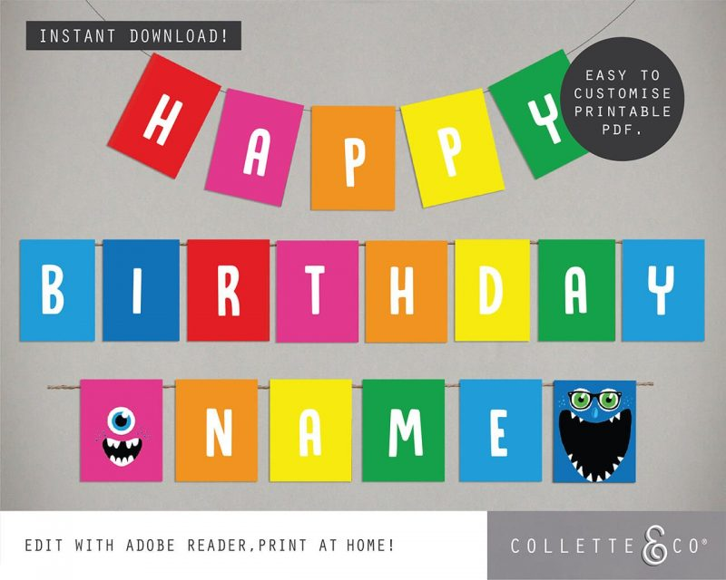 Printable Monster Party Decorations Collette and Co13