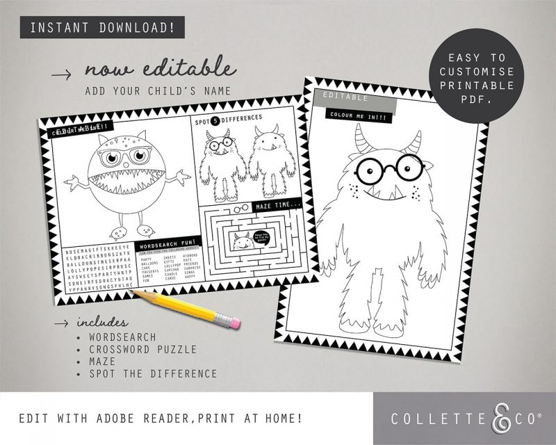Printable Monster Party Decorations Collette and Co2