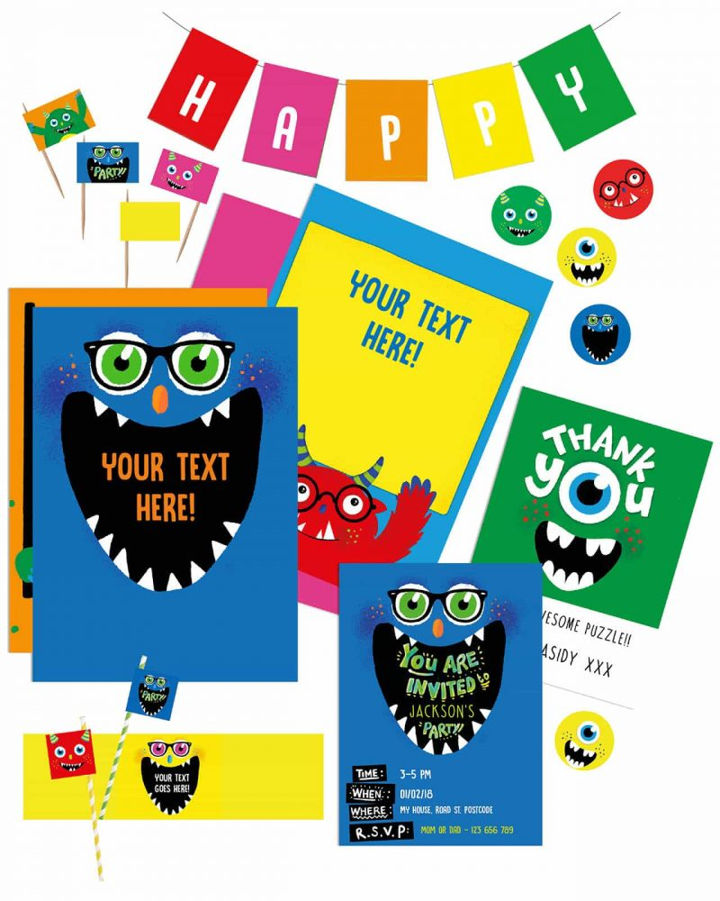 Printable Monster Party Decorations Collette and Co20