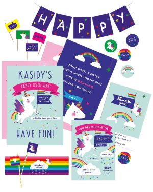 Printable Unicorn Party Decorations Collette and Co1