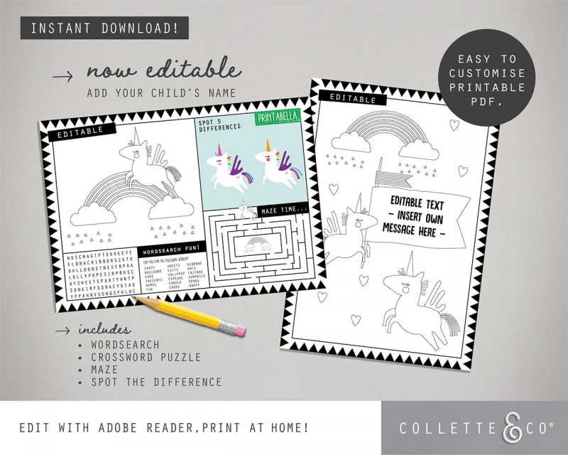 Printable Unicorn Party Decorations Collette and Co19