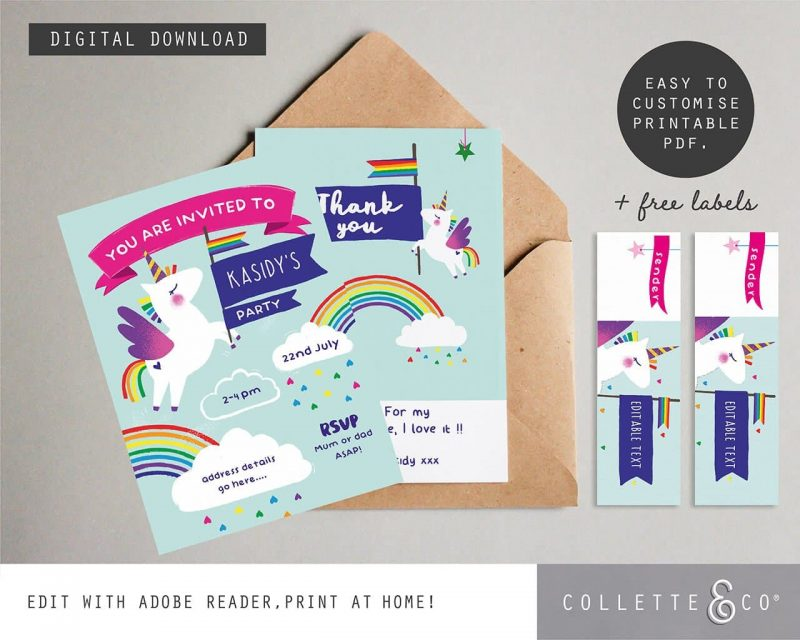 Printable Unicorn Party Decorations Collette and Co7