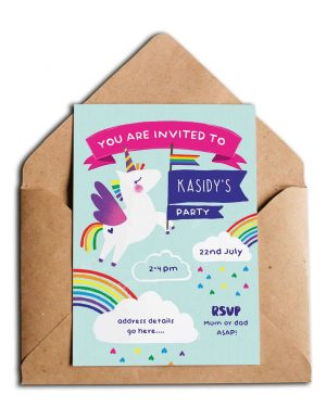 Printable Unicorn Party Invitation Editable Collette and Co 4