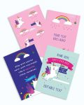 Printable Unicorn Party Poster Pack x4 Editable Collette and Co 4