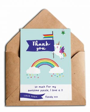 Printable Unicorn Party Thank You Card Editable Collette and Co 4
