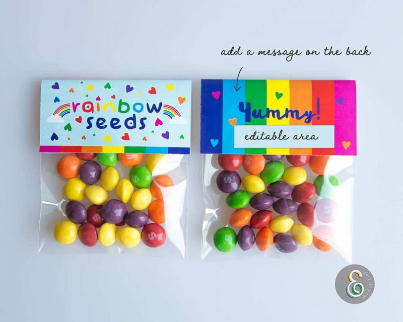 Rainbow Party Favors Rainbow seeds Collette and Co 1