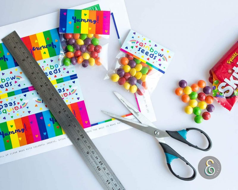 Rainbow Party Favors Rainbow seeds Collette and Co 3