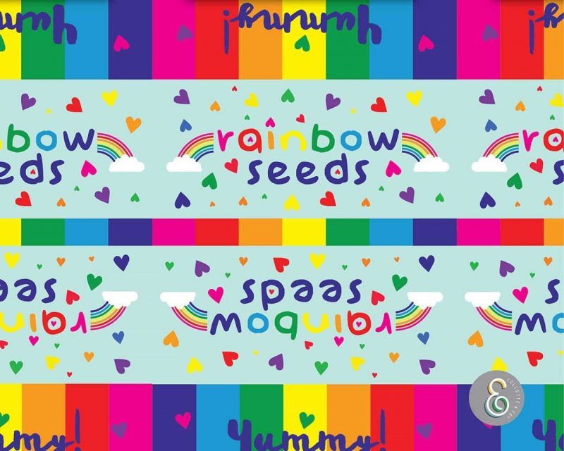 Rainbow Party Favors Rainbow seeds Collette and Co 4