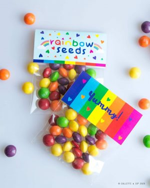 Rainbow Party Favors Rainbow seeds Collette and Co 8