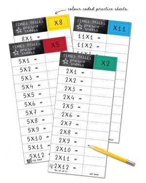 Times Table Worksheets Printable Editable Collette and Co 3