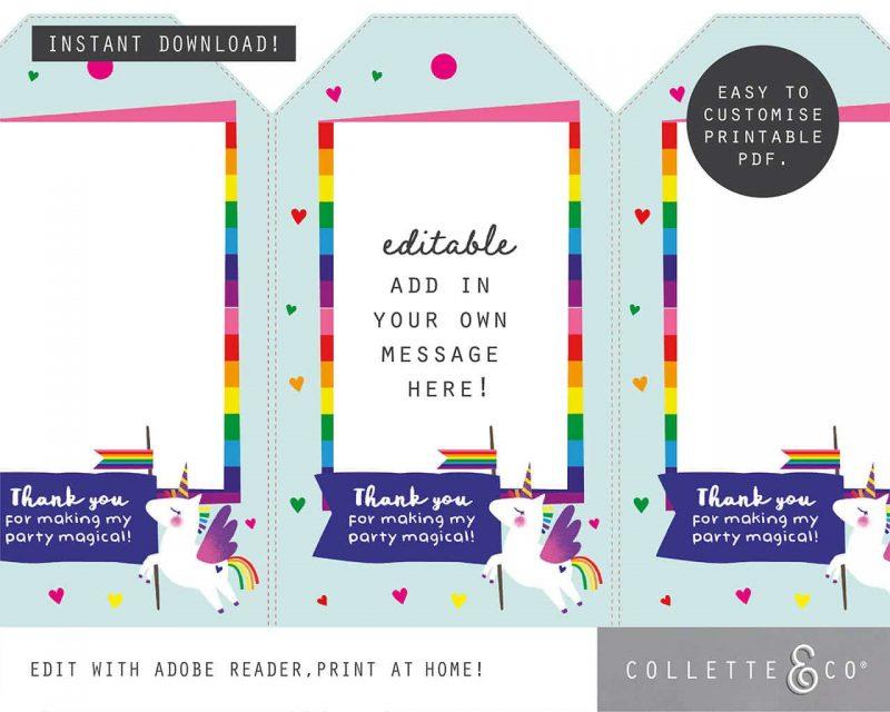Unicorn Party Favor Giftwrap Bundle Collette and Co 3