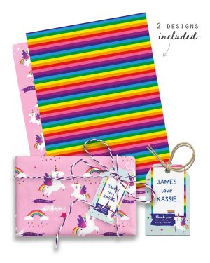 Unicorn Party Favor Giftwrap Bundle Collette and Co 6
