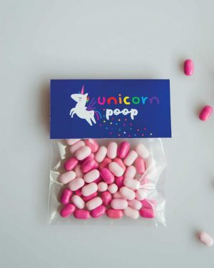 Unicorn Poop Printable Labels Editable Dark Collette and Co 5