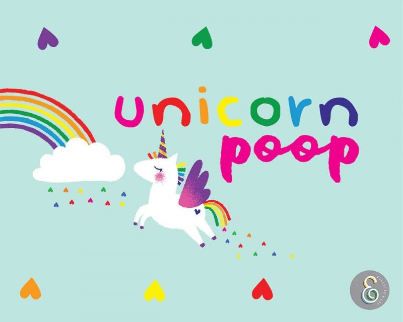Unicorn Poop Printable Labels Editable Light Collette and Co 2