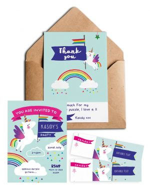 Unicorn stationery pack Collette and Co5