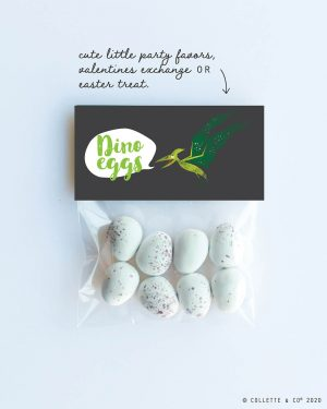 Dinosaur Egg Hunt Label Editable Printable Collette and Co 1