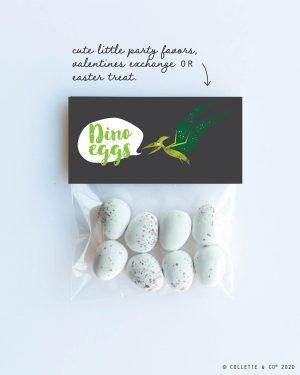 Dinosaur Egg Hunt Label Editable Printable Collette and Co 1