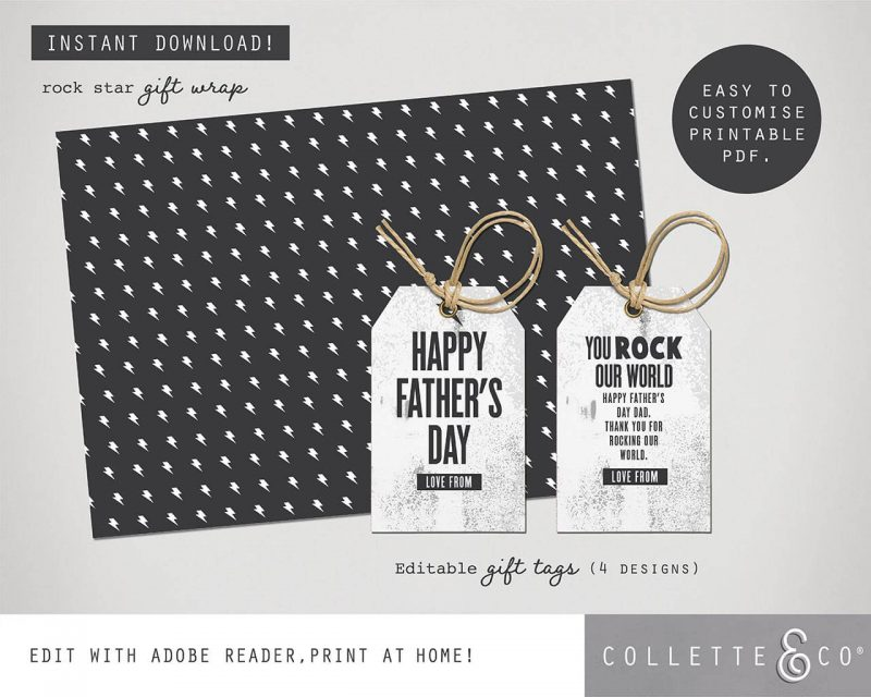 Fathers day Card and Gift Wrap bundle Collette and Co 10