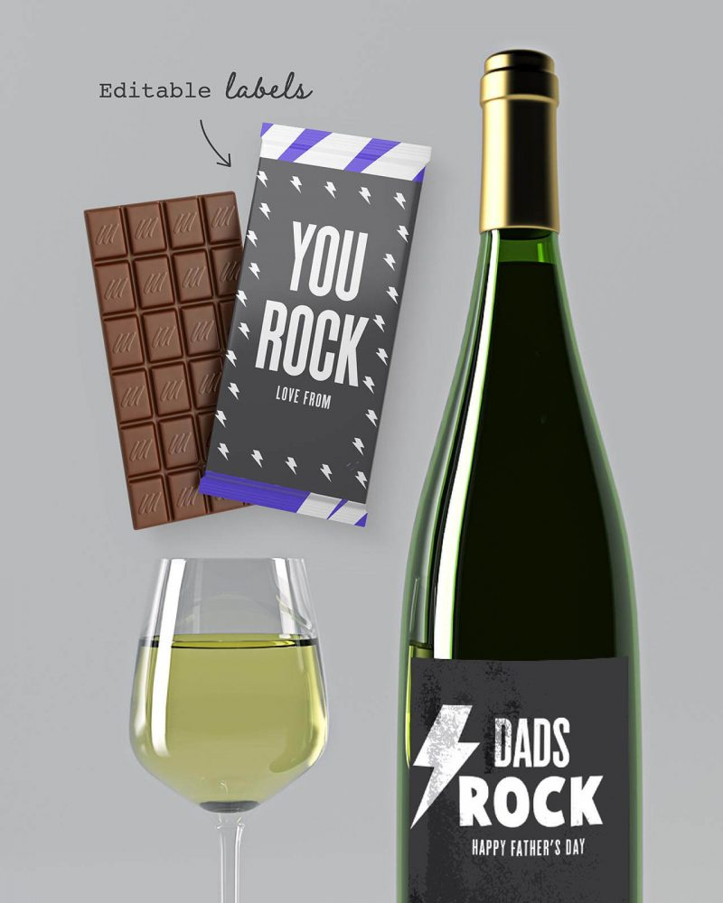 Fathers day Card and Gift Wrap bundle Collette and Co 2
