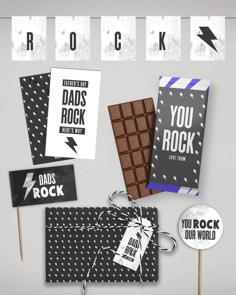 Fathers day Card and Gift Wrap bundle Collette and Co 6
